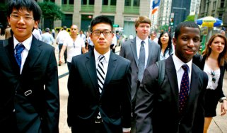 LBW students head to a company