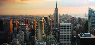 NYC Dusk City Scape Image